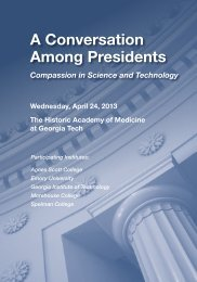 Event Program - Ivan Allen College - Georgia Institute of Technology