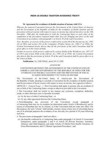 India Tax Treaty