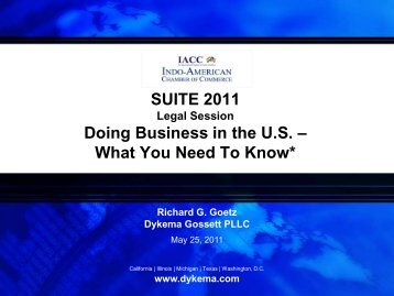 Doing Business in the U.S.