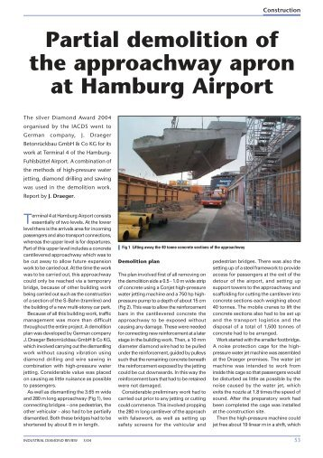 Partial demolition of the approachway apron at Hamburg Airport