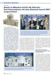 IDR 2/2007 berichtet ausführlich über den Diamond Award 2007