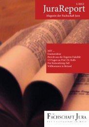 JuraReport_1_2012_web - Fachschaft Jura