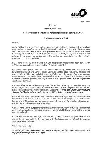Rede-Verfassungskommission - Bündnis 90/Die Grünen im Landtag ...