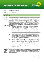 Thema: Finanzmarktregulierung Stand: 01. August 2013 Auf die ...