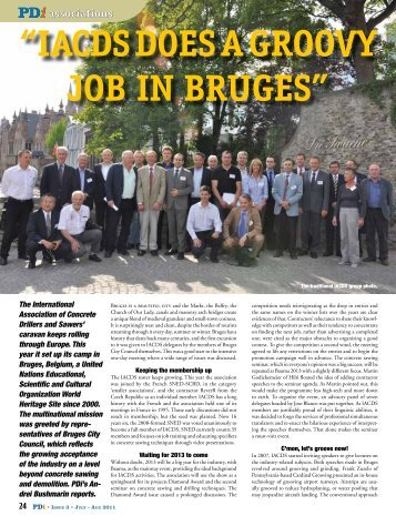 iacds does a groovy job in bruges - International Association of ...