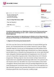 Hickel, Prof. Dr. Rudolf, Universität Bremen - Deutscher Bundestag
