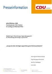 Julia Klöckner, MdL - CDU Rheinland-Pfalz