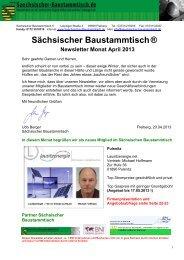 Newsletter Sächsischer Baustammtisch April 2013