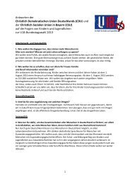 Antworten der Christlich Demokratischen Union Deutschlands ... - U18