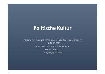 Politische Kultur - Akademie für Politische Bildung Tutzing