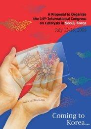 Bidding - the International Association of the Catalysis Societies