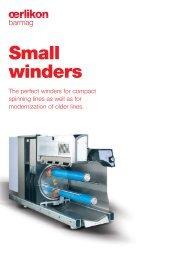 Small winders - Oerlikon Barmag - Oerlikon Textile