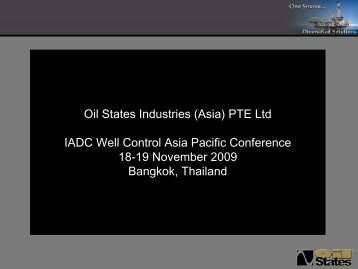 Oil States Industries (Asia) PTE Ltd IADC Well Control Asia Pacific ...