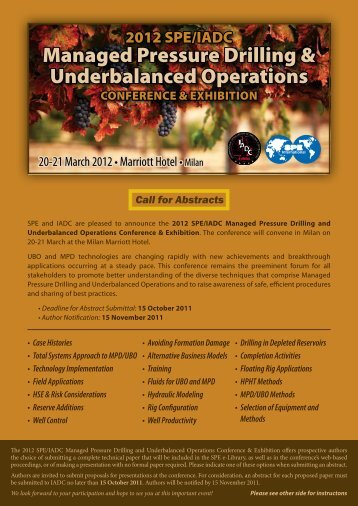 Managed Pressure Drilling & Underbalanced Operations - IADC