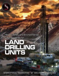 IADC HSE Case Guidelines for Land Drilling Units - Issue 1.0.1