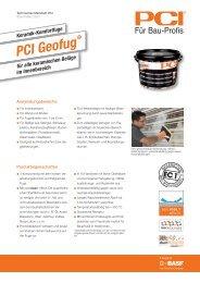 Keramik-Komfortfuge PCI Geofug - PCI-Augsburg GmbH