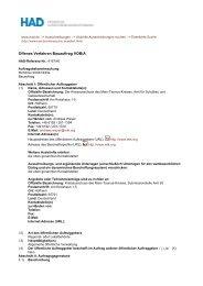 Offenes Verfahren Bauauftrag VOB/A - Main-Taunus-Kreis
