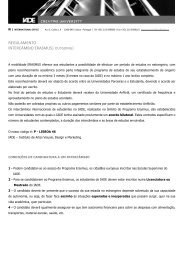 REGULAMENTO INTERCÂMBIO ERASMUS| OUTGOING| - IADE