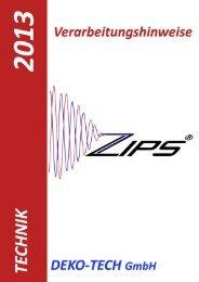 Zips Montageanleitung - Deko-Tech Handels GmbH