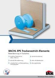 BACHL EPS Trockenestrich-Elemente