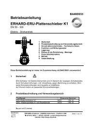 ERU-Plattenschieber K1 DN 50-300 mit Elektroantrieb