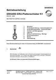 ERU-Plattenschieber K1 DN 50-600 mit COPAC-Zylinder