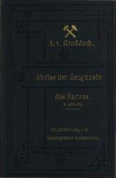 Geognosie des Harzes.
