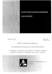 Dezember 1967 Institut für Angewandte Reaktorphysik ... - Bibliothek