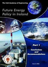 Future Energy Policy in Ireland - Irish Academy of Engineering