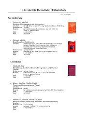 Literaturliste Theoretische Elektrotechnik - Institut für Allgemeine ...