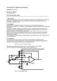 Sensorsysteme für allgemeine Anwendungen - Institut für ...