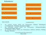 Wellentheorie - Institut für Allgemeine Elektrotechnik, Uni Rostock