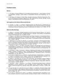 Publikationsliste - Institut für Allgemeine Elektrotechnik, Uni Rostock ...