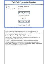 Curl-Curl-Eigenvalue Equation - Institut für Allgemeine ...