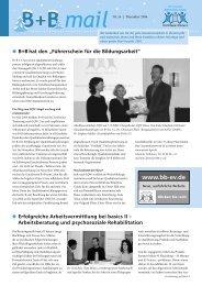 B + B mailnr - Beschäftigung + Bildung ev