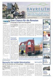 Amtsblatt Nr. 20/09 vom 30. Oktober 2009 - Stadt Bayreuth