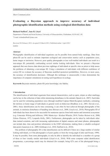 Evaluating a Bayesian approach to improve accuracy of individual ...