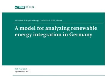 A model for analyzing renewable energy integration in Germany