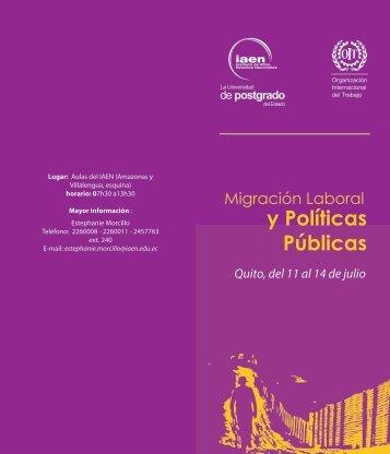 agenda del evento (pdf) - IAEN