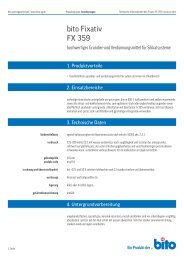 Technisches Datenblatt FX 359 - Bito AG