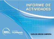 Informe de Actividades Carlos Arcos - El IAEN y