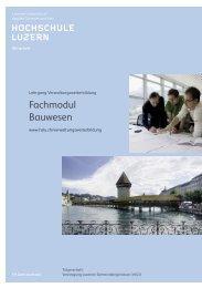 Broschüre - Weiterbildung.hslu.ch - Hochschule Luzern