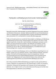 Beteiligungs- und Kooperationsformen in der Verkehrsplanung - Difu