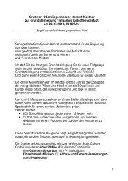 Grundsteinlegung Tiefgarage Ketschenvorstadt - Stadt Coburg