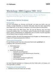 Workshop: IBM Cognos TM1 10.2