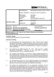 Bebauungsplan 1185 - Drucksache ... - Stadt Wuppertal