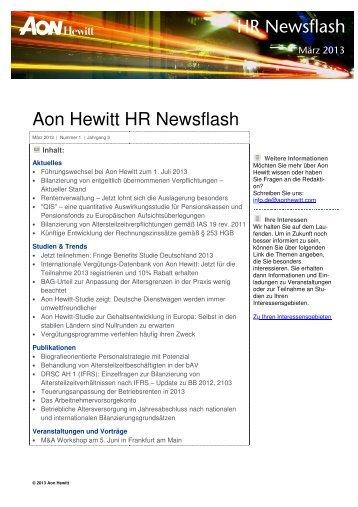 Aon Hewitt HR Newsflas HR Newsflash HR Newsflash HR Newsflash