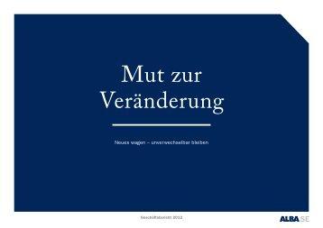 Geschäftsbericht 2012 - ALBA Group