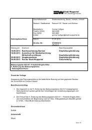 """5. Ã""""nderung - Drucksache Satzungs-beschluss - Stadt Wuppertal"""