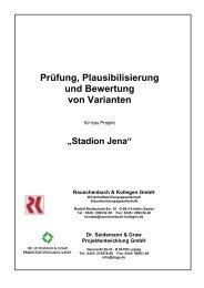 Bericht zur Prüfung, Plausibilisierung und Bewertung von ... - Jena